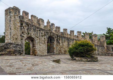 Medieval castle of San Vicente de la Barquera Cantabria Spain