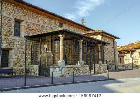 Church of San Martin in Cabezon de la Sal Cantabria Spain