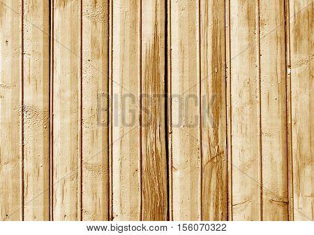 Orange Color Old Wooden Fence Texture.