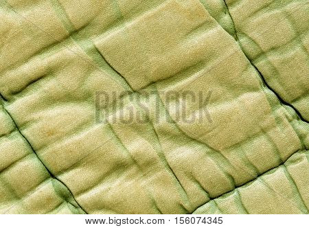 Old Green And Yellow Color Blanket Texture.