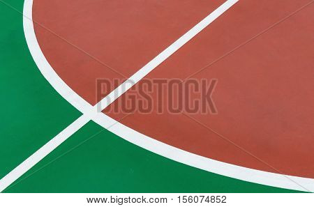 part of the central circle of a basketball court