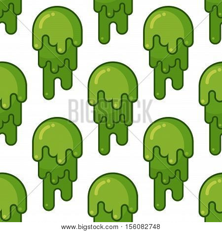 Snot Seamless Pattern. Snivel Ornament. Booger Background. Green Slime Wad Texture