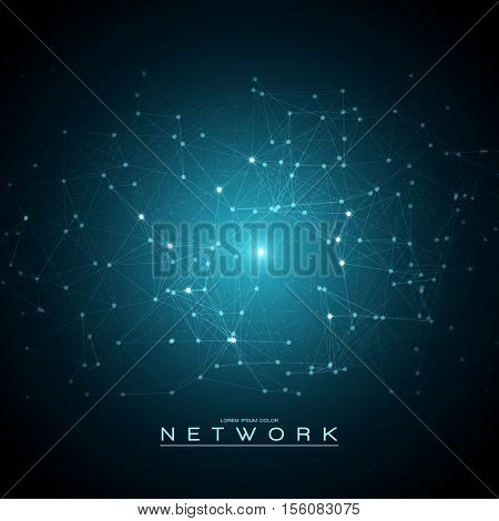 Abstract Mesh Futuristic Background | Network Vector Design