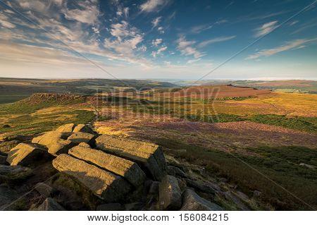 Higgar Tor Sunrise, Peak District, Derbyshire, England