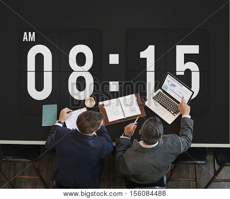 Clock Alarm Punctual Time Management Personal Organizer Concept