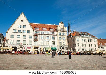 Town Hall Square In Tallinn, Streetview