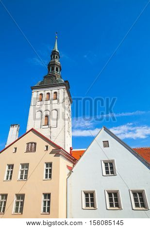 Old Town Of Tallinn, Estonia. Niguliste