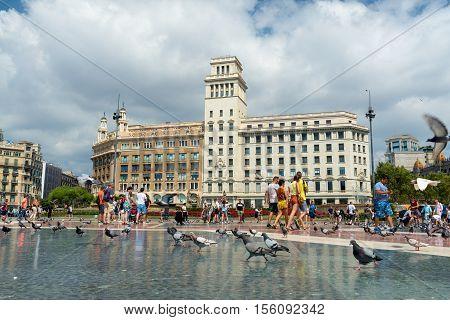 Catalonia Square- Barcelona  - Spain