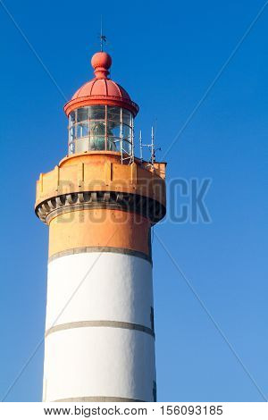 lighthouse in a beautiful day- finiterre ,bretagne-france