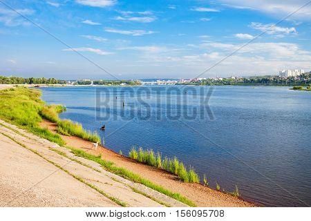 Angara River In Irkutsk
