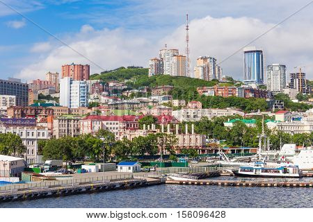 Vladivostok Aerial Panoramic View