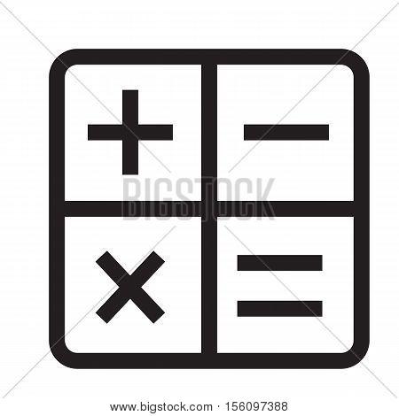 calculator icon on white background. calculator symbol.