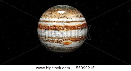 3d Iluminayion of Jupiter - High resolution planets of the solar system. This image elements furnished by NASA.