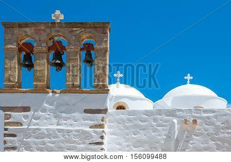 Greece DodecanesePatmos the Saint John church in the Skala village