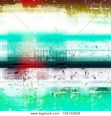 Vintage background with dirty grungy texture or overlay and different color patterns: yellow (beige); green; blue; red (orange); white; cyan