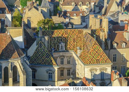 Aerial View Of The Historic Center Of Dijon