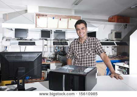 Small business:  owner of a computer repair store