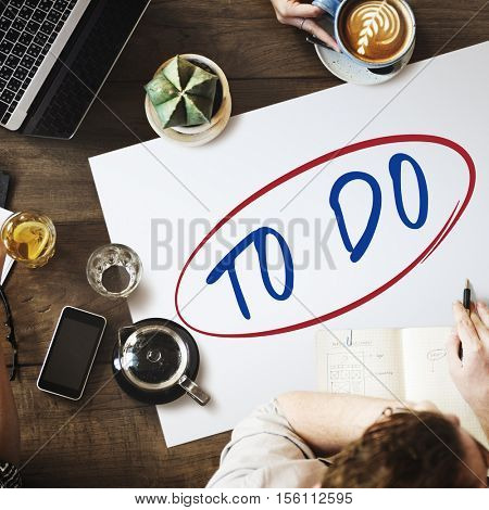 To Do Idea Memo Note Reminder Task Target Concept