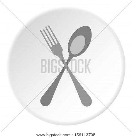 Spoon and fork icon. Flat illustration of spoon and fork vector icon for web