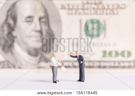 Business concept: Businessman meeting talk a money.