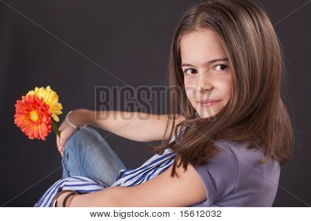 Beautiful Girl With Daisies