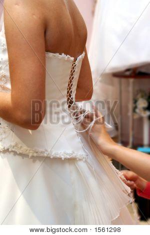 Fitting Of Wedding Dress