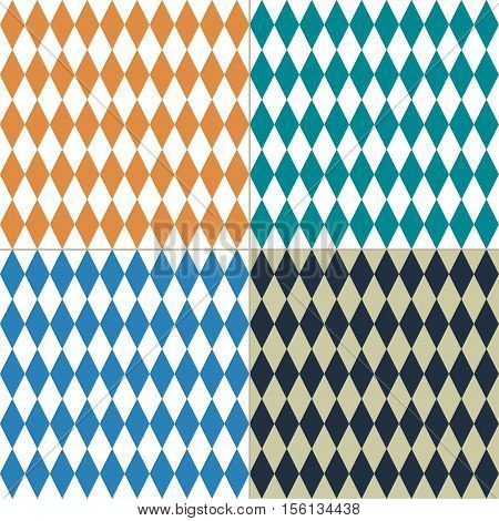 Oktoberfest rhombus background. Abstract geometric background. Seamless Abstract background with rhombuses