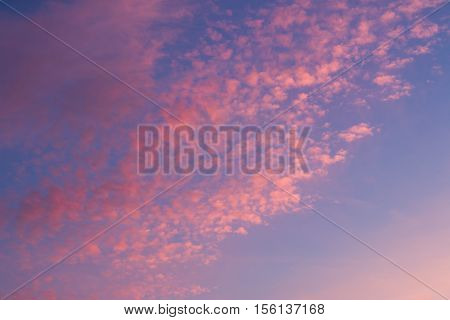 Clouds at dawn over Seaford in England