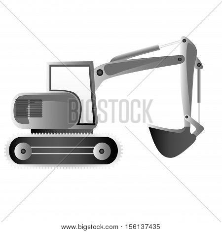 backhoe machine icon image vector illustration design