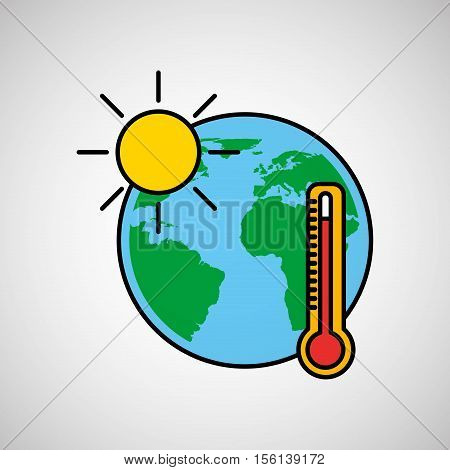 warming global environment concept icon vector illustration eps 10