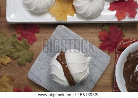 Dulce De Leche Dessert made with meringues in a sandwich form
