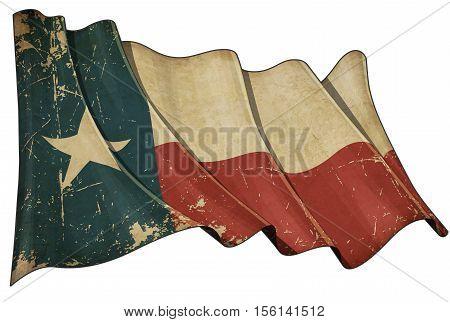 Texan Aged Flag