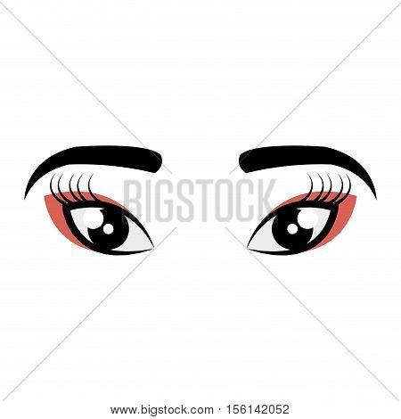 geisha eyes view icon vector illustration design
