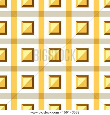 The pattern in the cell. Colorful geometric pattern. Seamless pattern, background, texture. Volumetric cell. Vector pattern of geometric shapes. Square. Volumetric pattern. Checkered background.