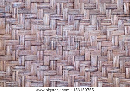 Texture or background of Thailand basketwork. In Closeup.