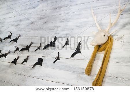 Deer head decoration for Halloween stock photo