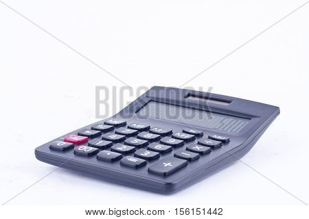 calculator for calculating the numbers accounting accountancy business  on white background finance isolated