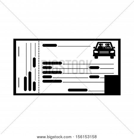ticket of parking zone over white background. vector illustration