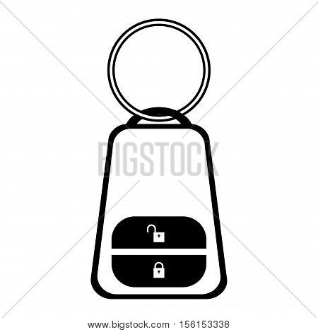 car remote device with buttons icon over white background. vector illustration