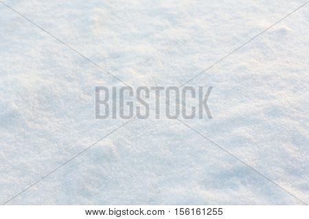 christmas, winter and precipitation concept - snow cover outdoors