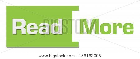 Read more text written over green background.