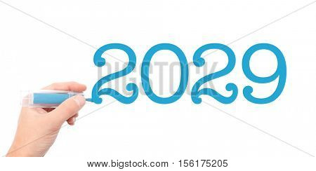 The year of 2029written with a marker