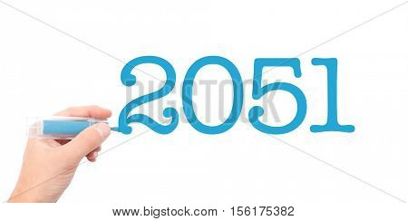 The year of 2051written with a marker