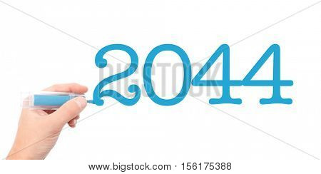 The year of 2044written with a marker