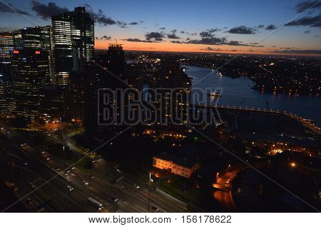 Aerial View Of Darling Harbour Sydney New South Wales Australia