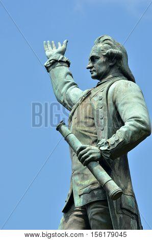 Captain James Cook Statue Hyde Park Sydney New South Wales Australia