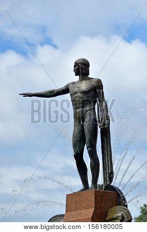 Theseus Sculpture On Archibald Fountain Hyde Park Sydney New South Wales Australia