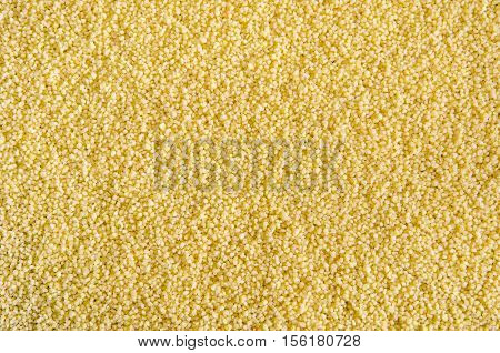 Raw cous cous background. Durum wheat. Healthy lifestyle concept.