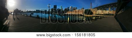 Panoramic Cityscape View  Of Sydney New South Wales Australia