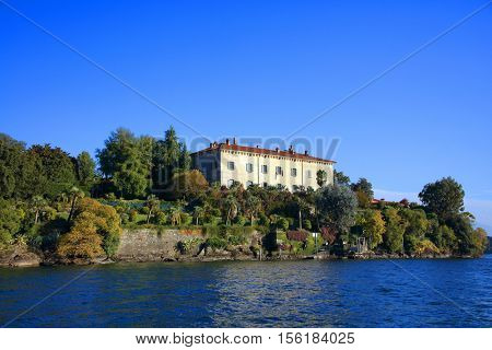 Scenic view of Isola Madre on the Lago Maggiore, Northern Italy, Europe
